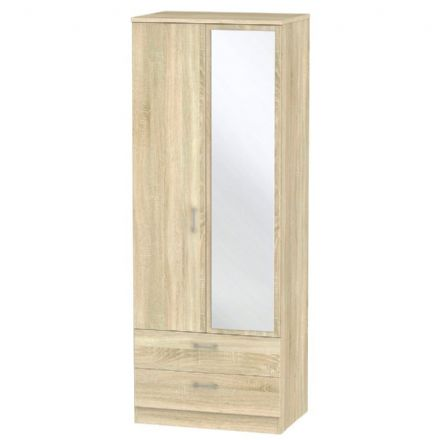 Devon Tall 2 Drawer Mirror Robe
